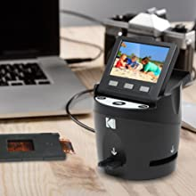 Kodak Digital Film Scanner, Converts 35mm, 126, 110, Super 8 and 8mm Film  Negatives and Slides to JPEG Includes Large Tilt Up 3 5 LCD and EasyLoad