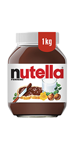 nutella 1kg, spread, hazelnut, cocoa, jam, marmalade