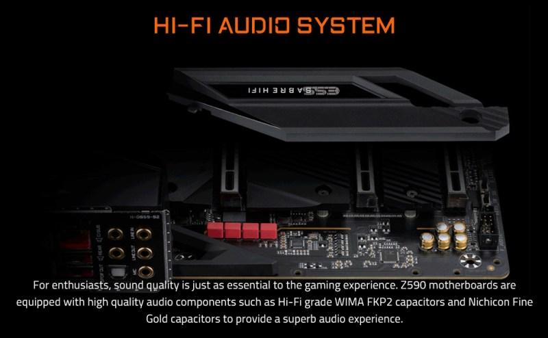 z590 hifi audio