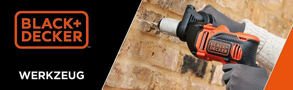 Black + Decker elektromos kéziszerszám és vezeték nélküli szerszám, műhelyben, házban és garázsban használható