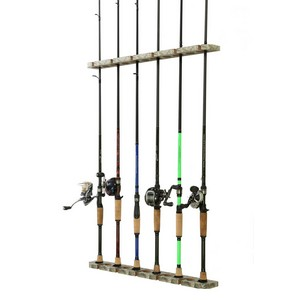 Old Cedar Outfitters Fishing Rod Storage Organizer Wall Ceiling