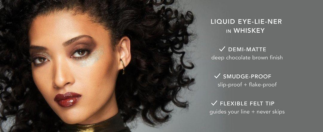 haus laboratories, liquid eyeliner, brown liquid liner, brown eyeliner, whiskey liner, gaga makeup