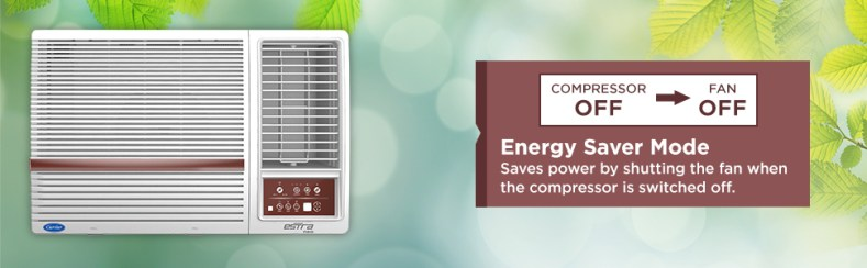 energy saver mode of Carrier 1.5 Ton 3 Star Window AC (Copper CAW18SN3R39F0 White)