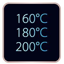 Brosse lissante power straight calor temperature chauffante