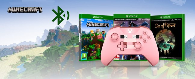 Mando inalámbrico Xbox Minecraft Pig
