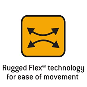 Rugged Flex technology for ease of movement