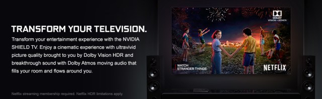 nvidia shield, cinematic, dolby vision hdr, dolby atmos