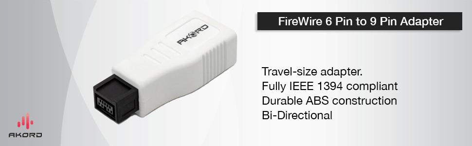 akord firewire adapter 6 pin to 9 pin