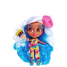 cabeleireiros, show do youtube, sallee, pintor, bonecas colecionáveis, cabelo azul