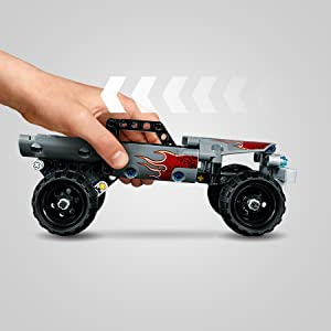 LEGO 42090 Technic Getaway Truck with Pull-Back Motor, Monster Truck Model Review