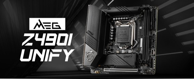 msi, meg z490i unify, itx motherboard, intel gaming