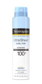 Neutrogena Ultra Sheer Dry-Touch Face and Body Sunscreen Spray Mist with Broad Spectrum