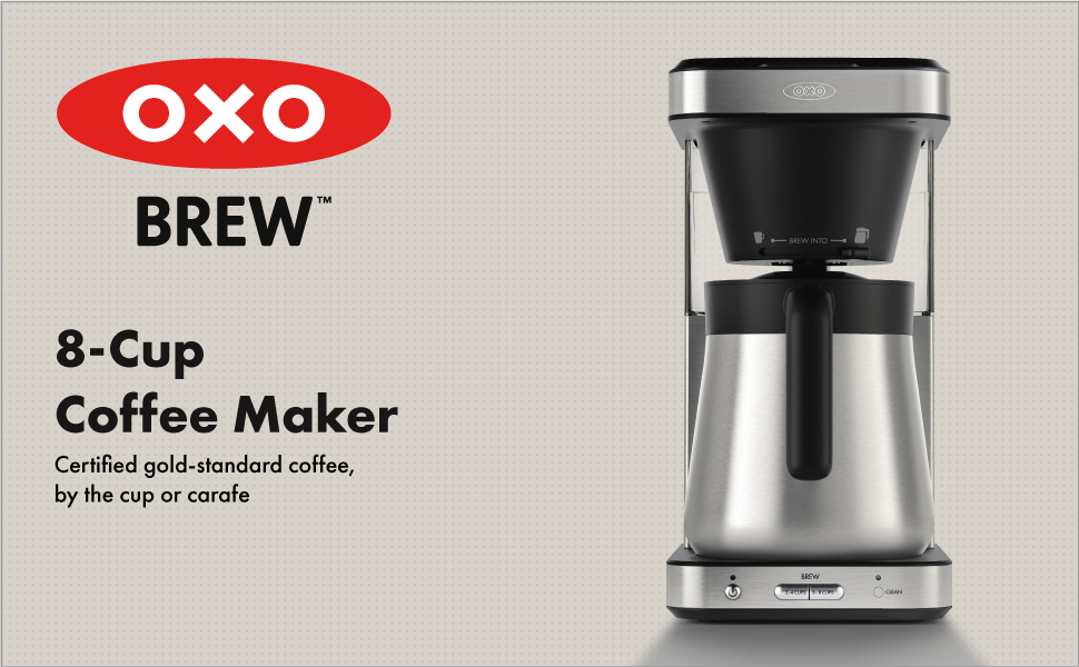 OXO Brew 8-Cup Coffee Maker with Single-Serve Capability