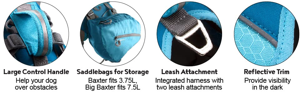 kurgo baxter backpack for dogs, dog backpacks for dogs to wear, camping accessories