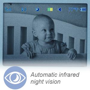 Visão noturna infravermelha automática