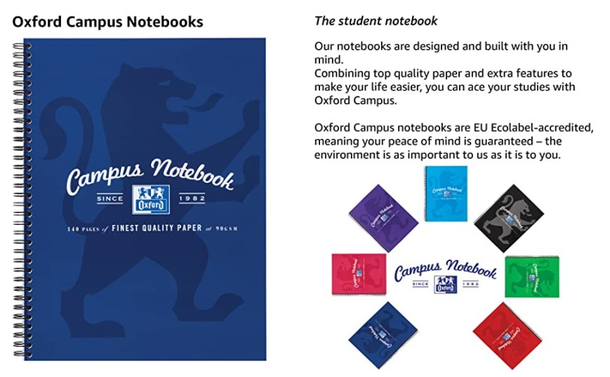 941fdd75 ed50 47d2 8a2c 0417cc3270f1.  CR0,0,4042,2500 PT0 SX970 V1    - Oxford Campus A4 Notebook lined with Dividers, Assorted Pack of 3