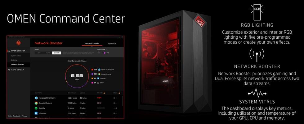 customize Dual Force split two data streams system vitals metrics dashboard temperature GPU CPU