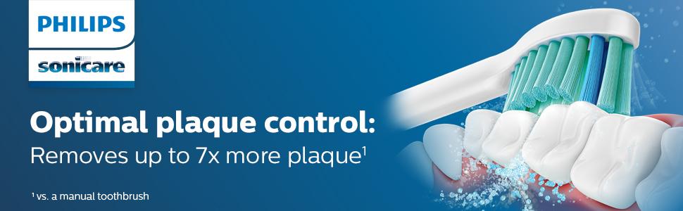 Optimal plaque control brush heads white