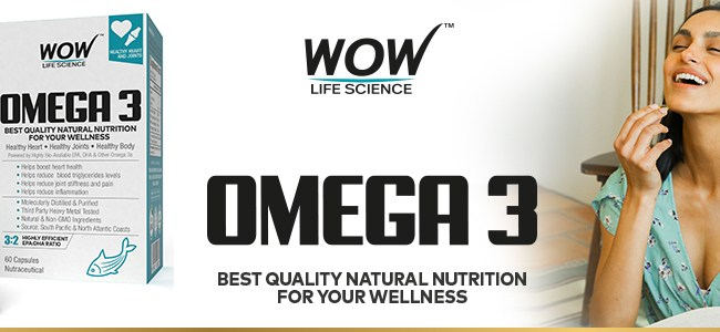 WOW LIFE SCIENCE OMEGA 3 FISH OIL.