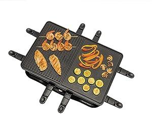 swissmar máquina de raclette mesa elétrica bancada derretimento queijo partyclette boska holland swiss