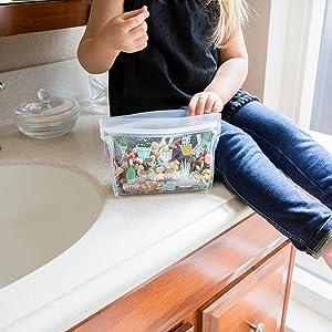 Storage, Bag, Reusable, Snack, Plastic, Monster, Food, Lunch, Sandwich, Silicone, Kids, Ziploc