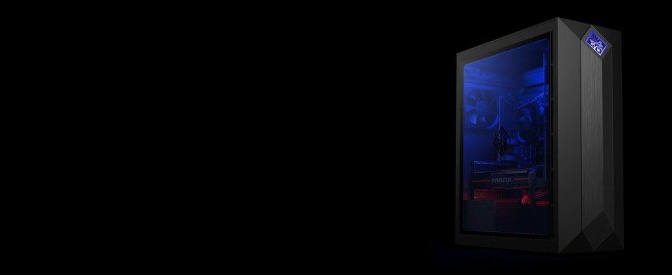 sleek design see-through door tempered glass window RGB effects internal components