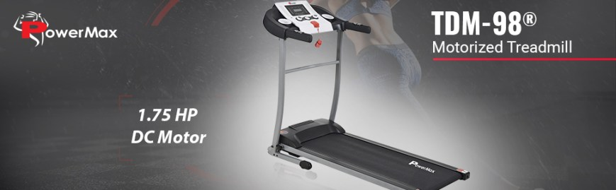 Powermax Fitness TDM-98  Light Weight, Foldable Motorized Treadmill for Cardio Workout at Home