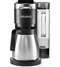 keurig k-duo plus coffee maker, carafe coffee maker, drip brewer, coffee machine, bagged coffee, pod