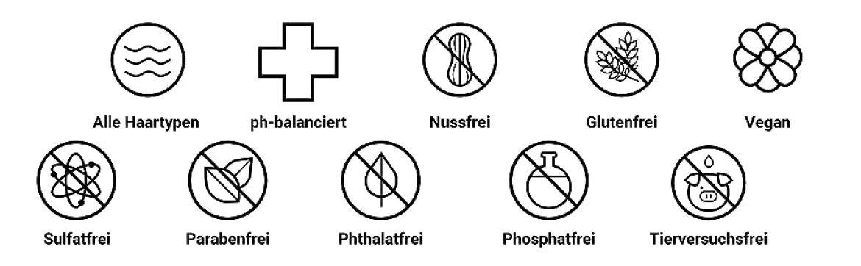 Frei von DEA, Aldehyden und Formaldehyd