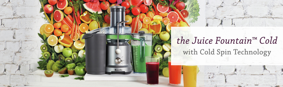 the Juice Fountain Cold by Breville, BJE430SIL1BCA1