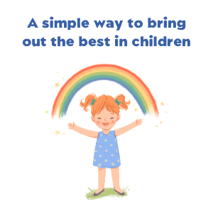 Child with rainbow