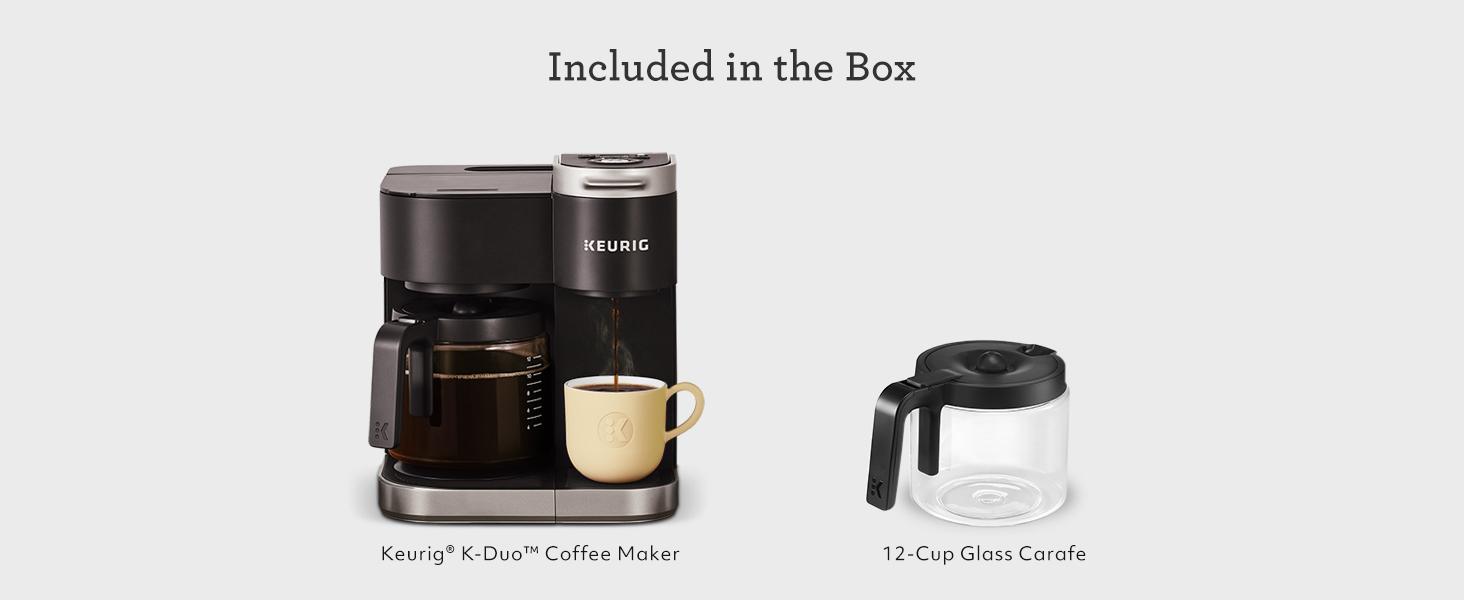 keurig k-duo drip coffee maker, k-duo carafe coffee maker, k-duo single serve k-cup pods coffeemaker