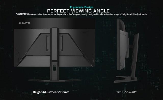 ergonomic, vieweing angle, monirot, asus, msi, gigabyte monitor