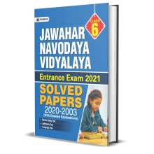 JAWAHAR NAVODAYA VIDYALAYA cLASS-VI SOLVED PAPERS (2003-2020)