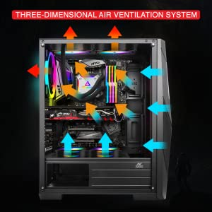 Case Cooler, ICE-211TG, gaming Cabinet