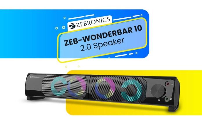 Zebronics Zeb Wonder bar 10 2.0 Computer Speaker