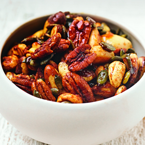Honey and Spice Snacking Nuts