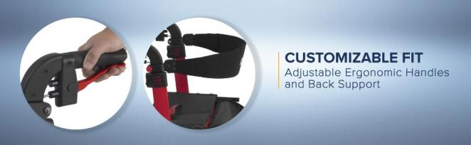 Customizable Fit: Adjustable Ergonomic Handles and Back Support