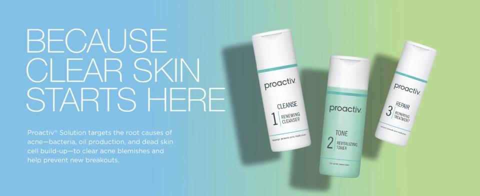 proactiv 3 step acne treatment step 1 cleanser toner step 2 repairing treatment kit