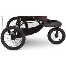 carrinho de jipe jogging jogger rodas de terreno giratória choque tudo