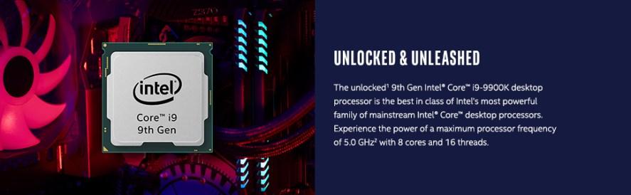 unlocked 9th gen Intel Core i9-9900K desktop processor