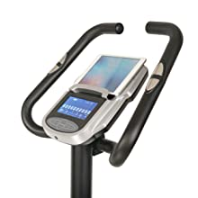 Bicycle with tablet holder
