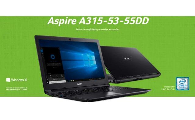Notebook Acer 15,6'' i5-7200U 4GB 1TB Win10
