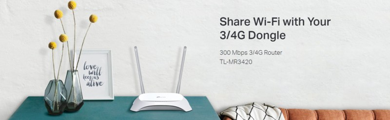TP-Link 3G/4G 300Mbps Wireless N Router (TL-MR3420) | Agiza Online