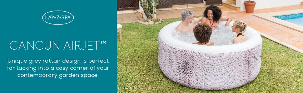 Lay-Z-Spa hot tub Cancun