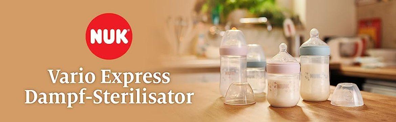 NUK Vario Express Dampf-Sterilisator, für bis zu 6 Flaschen und Zubehör