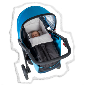 newborn stroller with cocoon accessory