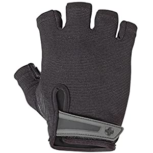 Harbinger Power Non-Wristwrap Weightlifting Gloves with StretchBack Mesh and Leather Palm (Pair)