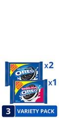 OREO Original & OREO Double Stuf Chocolate Sandwich Cookie Variety Pack, Family Size,