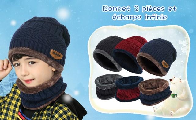 Bonnet 2 Pièces et écharpe infinie